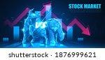 concept art of bullish vs...   Shutterstock .eps vector #1876999621