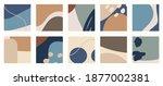 trendy social media set of ten... | Shutterstock .eps vector #1877002381
