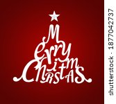 christmas greeting card. merry... | Shutterstock .eps vector #1877042737