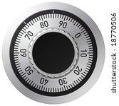 vector combination lock | Shutterstock .eps vector #18770506