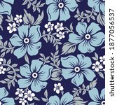 seamless vector floral pattern... | Shutterstock .eps vector #1877056537