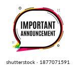 important announcement. speech... | Shutterstock .eps vector #1877071591