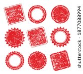 vector stamp without text. set... | Shutterstock .eps vector #1877088994