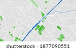 city map. town streets with... | Shutterstock .eps vector #1877090551