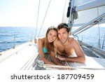 lucky couple relaxing on... | Shutterstock . vector #187709459