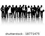 illustration of business people | Shutterstock .eps vector #18771475