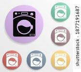 washing machine badge color set ...