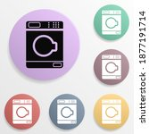 drying machine badge color set...