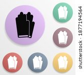 gloves badge color set icon....