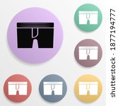 pants badge color set icon....