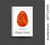 notepad template with easter... | Shutterstock .eps vector #187721945