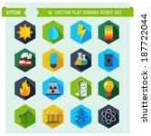 modern flat energy vector icons ... | Shutterstock .eps vector #187722044