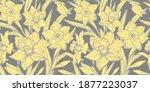 calm yellow closeup daffodils ...   Shutterstock .eps vector #1877223037
