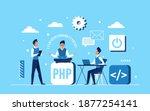 programmer coder people team... | Shutterstock .eps vector #1877254141