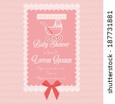 vector baby shower template... | Shutterstock .eps vector #187731881
