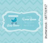 vector baby shower template... | Shutterstock .eps vector #187731917