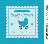 vector baby shower template... | Shutterstock .eps vector #187732001