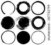set of brush stroke circles. | Shutterstock .eps vector #187732799