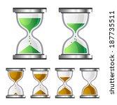 sand clock glass timer icons on ... | Shutterstock .eps vector #187735511