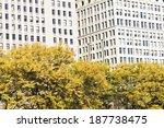 Stock photo autumn in chicago michihan avenue 187738475
