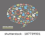 speech bubble with social media ... | Shutterstock .eps vector #187739501