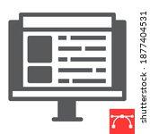 web design glyph icon  website...
