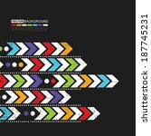 abstract background with arrows | Shutterstock .eps vector #187745231