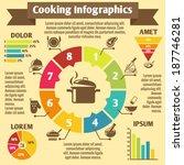 cooking kitchen and restaurant... | Shutterstock .eps vector #187746281