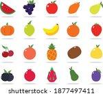 fruits flat design icon set...   Shutterstock .eps vector #1877497411