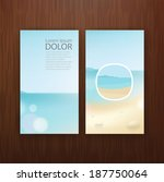 abstract sea card template...