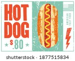 hot dog typographical vintage... | Shutterstock .eps vector #1877515834