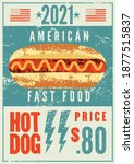 hot dog typographical vintage... | Shutterstock .eps vector #1877515837