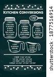 kitchen conversion chart in... | Shutterstock .eps vector #1877516914