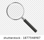 realistic magnifying glass on... | Shutterstock .eps vector #1877548987