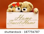 Cute Teddy Bears In A White...