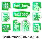 beef stickers vector set   best ...   Shutterstock .eps vector #1877584231
