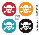 vector   colorful circle danger ... | Shutterstock .eps vector #187758521