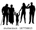 vector silhouette of family on... | Shutterstock .eps vector #187758815