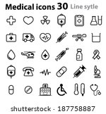 medical icons   line | Shutterstock .eps vector #187758887