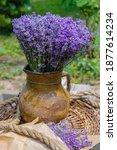 Lavender In A Vintage Clay Jug...