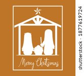 merry christmas card with... | Shutterstock .eps vector #1877619724