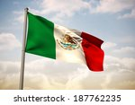 mexico national flag against... | Shutterstock . vector #187762235