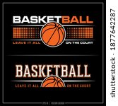 collection of two basketball... | Shutterstock .eps vector #1877642287