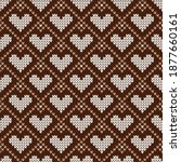 knitted seamless cozy pattern... | Shutterstock .eps vector #1877660161