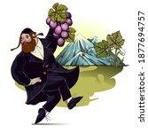 Happy Shavuot. Jewish Man...