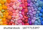 Many Colorful Balls Of Wool And ...
