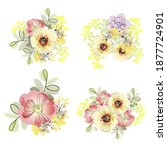 flowers set. collection of... | Shutterstock .eps vector #1877724901