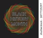 black history month poster... | Shutterstock .eps vector #1877725297