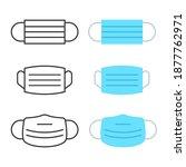 set of medical masks   template.... | Shutterstock .eps vector #1877762971