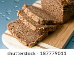 loaf of wholegrain bread and... | Shutterstock . vector #187779011